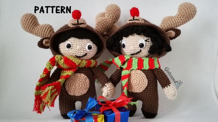 Patrón amigurumi. Amigurumi pattern. Rodolfo el reno. Rudolph the reindeer. de GateandoCrochet en Etsy