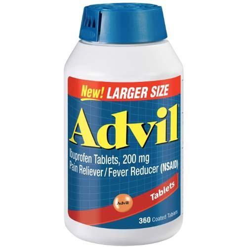 Advil Tablets - 200mg - 360 Tablets | Fever reducer ...