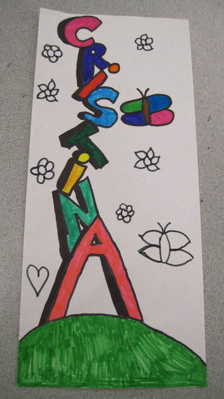 Name art projects   Name projects Part 1 - grade 5