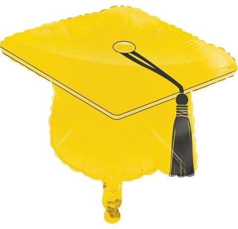 Creative Converting Yellow Graduation Cap Mylar Balloon
