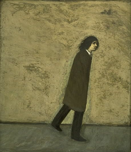 © Kurt Trampedach - Selvportræt, hel figur, gående
