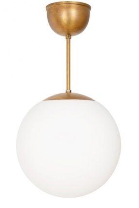 Taklampa Glob Mässing Vit matt - Konsthantverk - Dennys Home