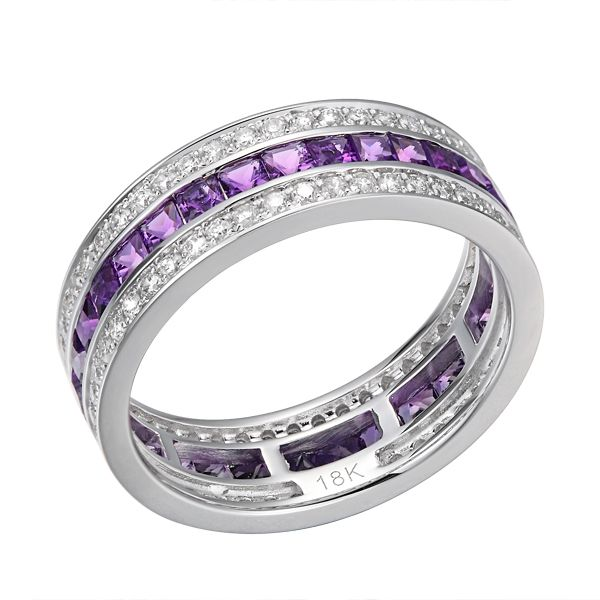 Purple Illusion -   Amethyst white gold eternity ring