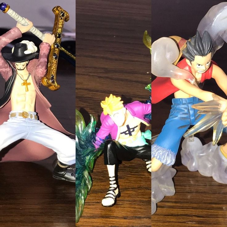 One Piece Usopp, Luffy, Marco, Mihawk, Zimbay Figure Size 13 cm