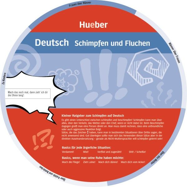 """Wheel – """"German - Expressing Anger and Cursing"""" by HUEBER VERLAG 