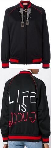 Web Embellished Bomber Jacket