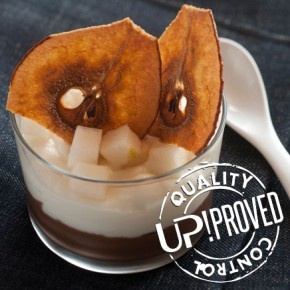 La ricetta di UP!: Mousse di cioccolato, pere e Squacquerone