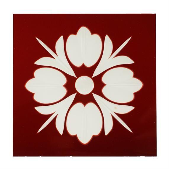 Produkter - Glass - gammelt glass - 3314 Lilje i rødt glass