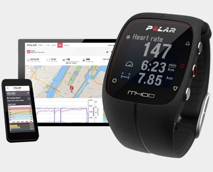 Polar M400 GPS & Activity Tracker Watch. Running focused HRM + GPS watch with day to day activity tracking (i.e. steps and sleep) and smartphone connectivity