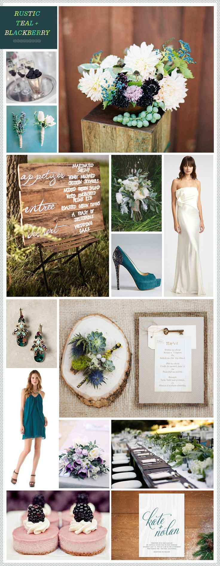 Rustic Teal + Blackberry Wedding Inspiration