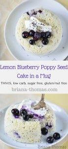 Blaubeermohn-Zitronen-Kuchen in einer Schüssel