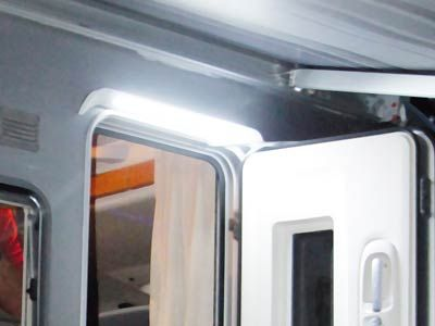 Fiamma LED Awning Light Gutter is an exterior awning light and rain gutter for caravan and motorhomes