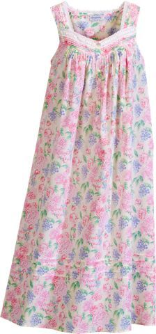 Lanz of Salzburg Nightgown | Floral Bouquet Cotton Lawn Nightgown