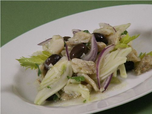 Baccala Salad:  I believe the cod needs to soak for 24 to 48 hours before making the salad.