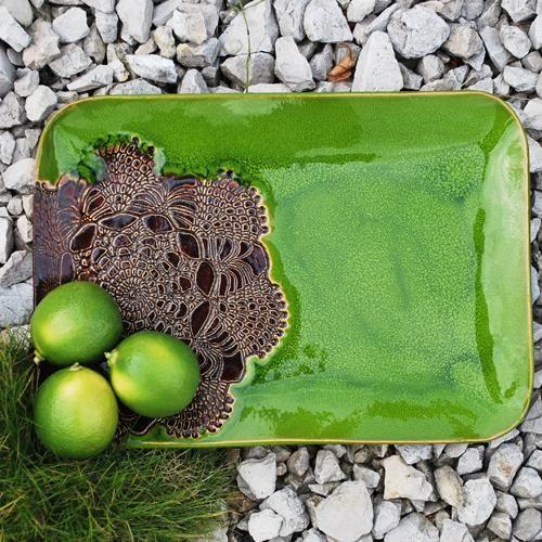 ceramika,talerz,handmade,prezent,unikat,patera - Ceramika i szkło - Wyposażenie wnętrz w ArsNeo