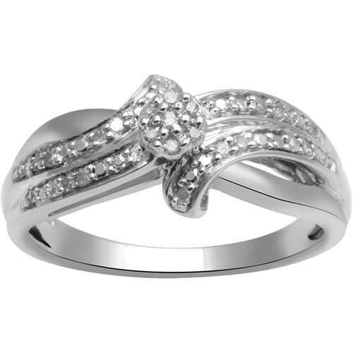 walmart jewelry engagement rings diamond accent sterling silver engagement ring rings walmart - Wedding Rings At Walmart