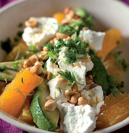 Orange and hazelnut salad