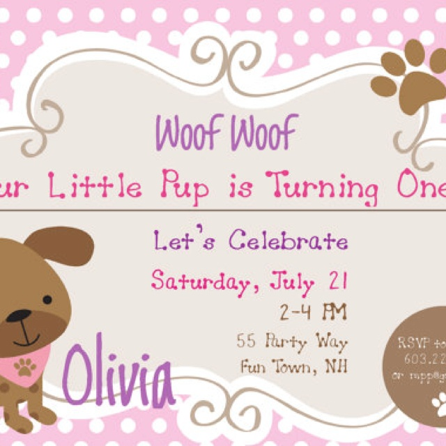 53 best first birthdays images on pinterest birthday party ideas puppy invite puppy party2nd birthdaybirthday ideasbirthday bookmarktalkfo Image collections
