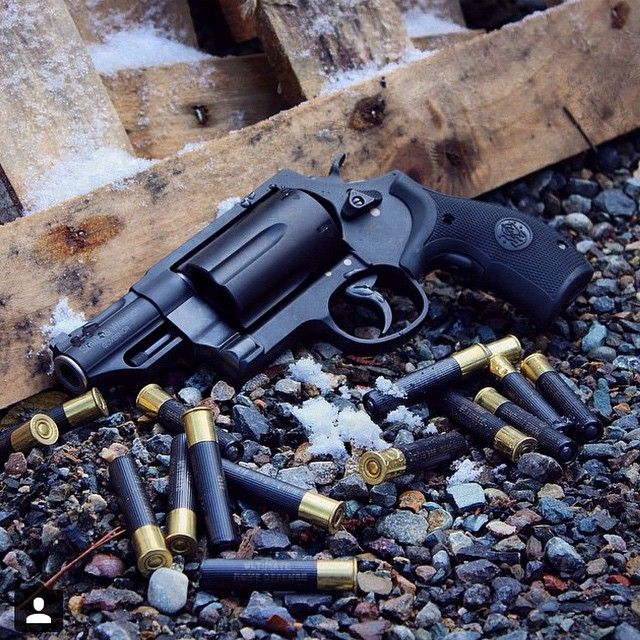 The Smith and Wesson governor 410 shotgun revolver