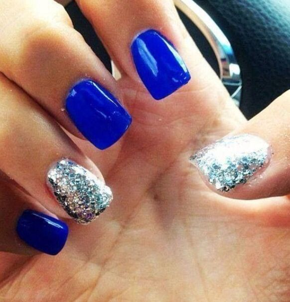 2014 Nail Art Ideas For Prom: Royal Blue Nails!!! Ball Nails