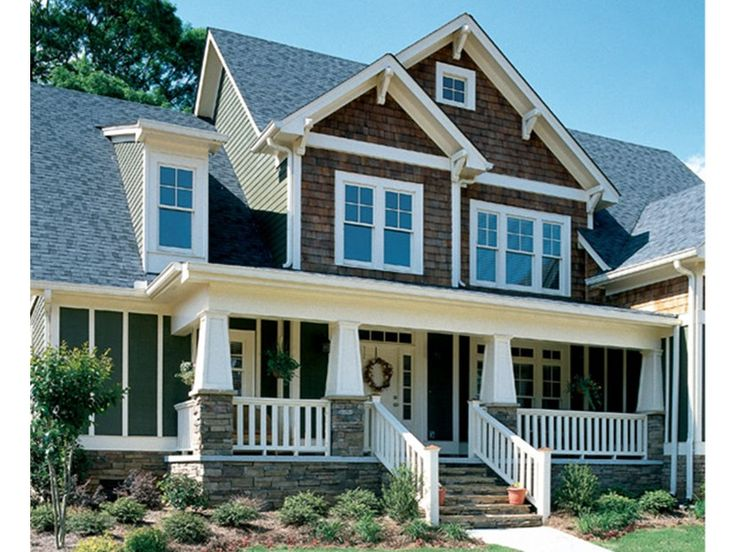 Eplans House Plan Craftsman Style Pillars Lend A Country