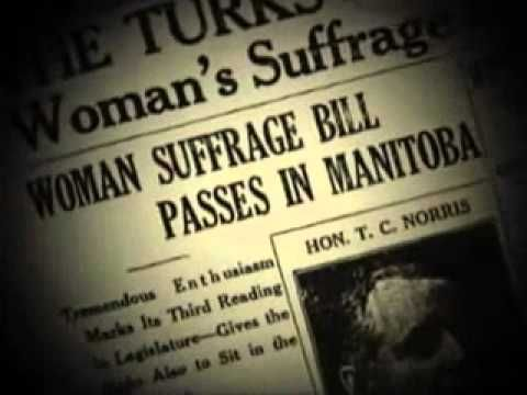 History of the Right to Vote for Women in Canada Ch 18