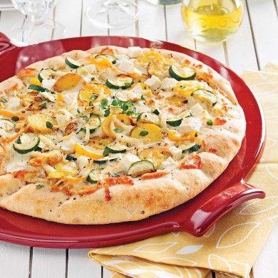 Pizza jardinière aux deux fromages – ghislain lebel