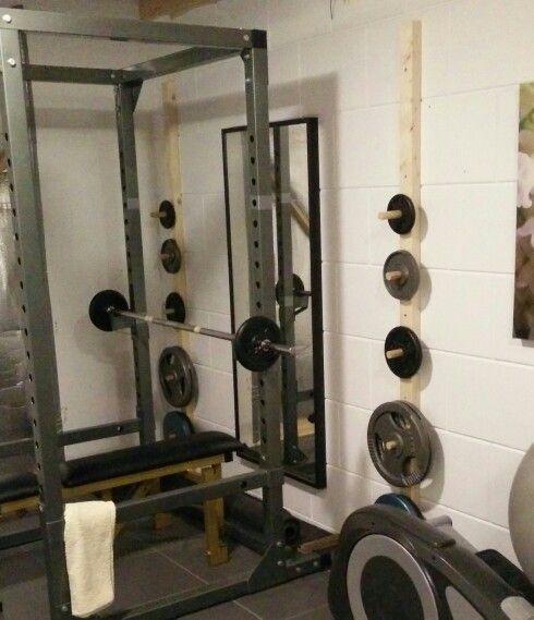DIY bumper plate rack / weight rack