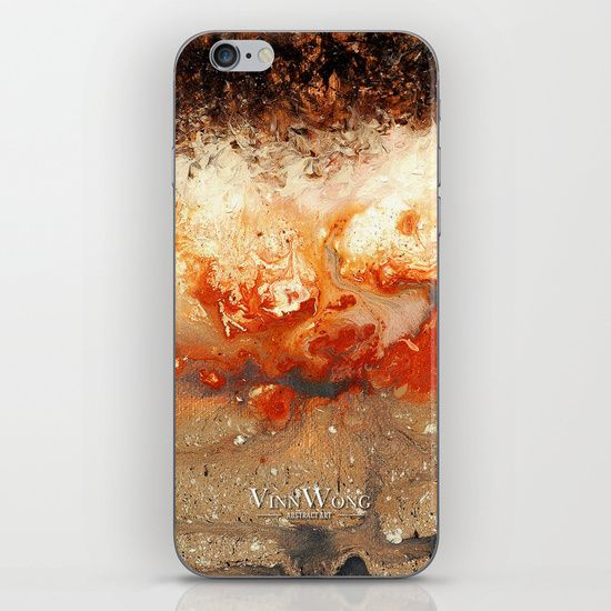 Volcanic red and fiery abstract iPhone and iPod Skins by Vinn Wong | Full collection vinnwong.com | Visit the shop or Pin it For Later!