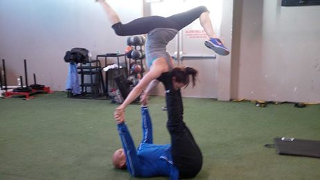 #AcroYoga — with Personal Trainer #ShanonMcMillan #LorneKing at Advantage 4 Athletes, A4A.