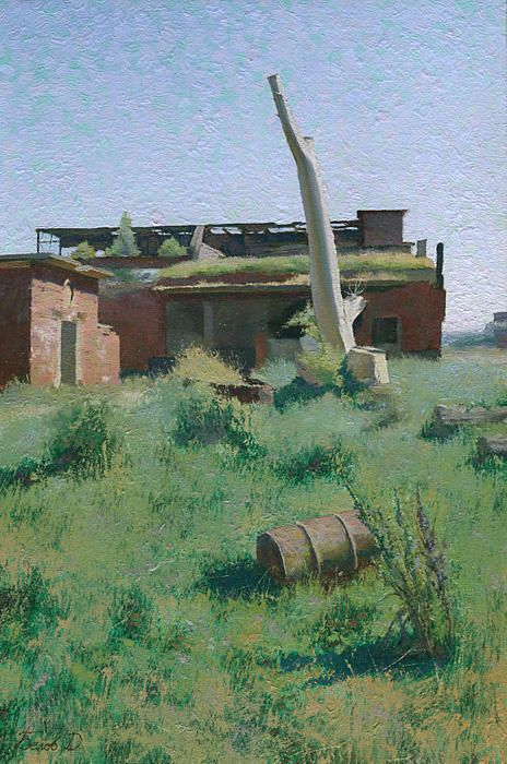 Base Neutief. My painting from the ruins of the base in Kaliningrad Region.