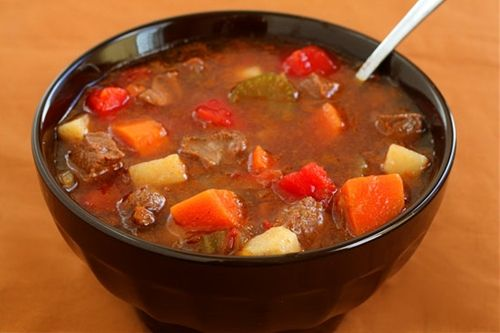 Making this as we speak....hopefully it turns out!  :)  Steak Soup (Vegetable Beef Soup) Recipe