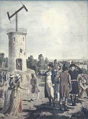 Telégrafo óptico. En 1792, Claude Chappe demostró un sistema práctico de telegrafía óptica que se extendió por toda Francia. Este fue el primer sistema práctico de telecomunicaciones.