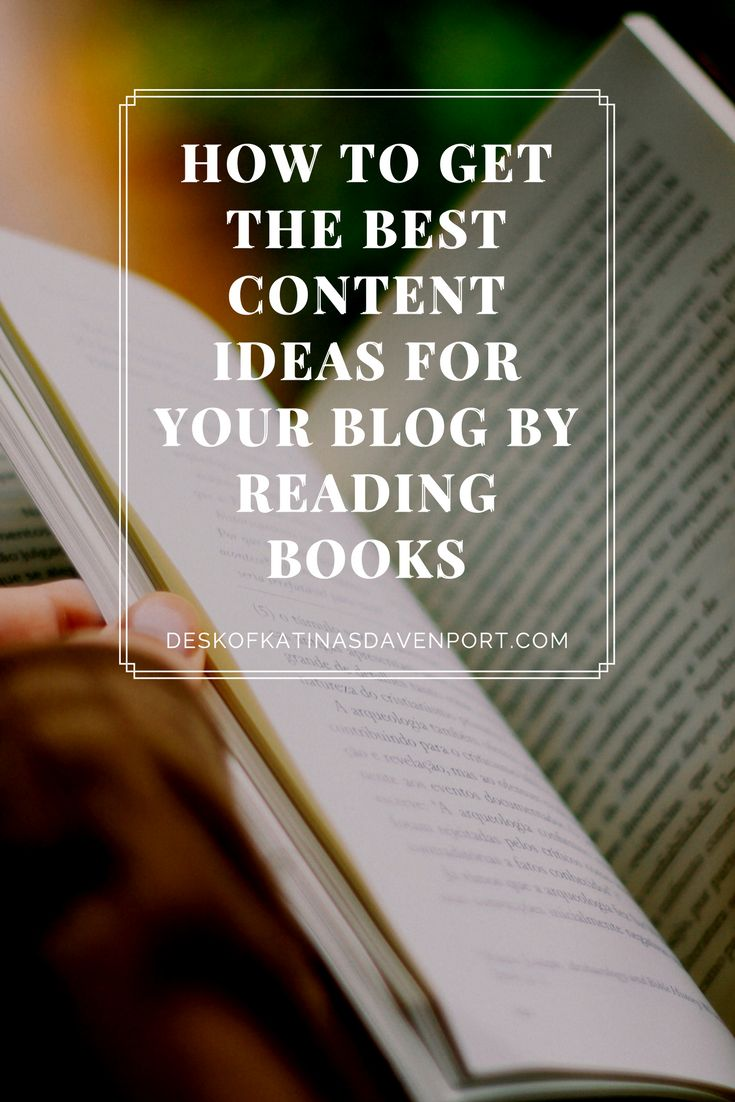 Need blog post ideas? If you don't know what to post on your blog, consider reading a book. I mention how you can gain blog post ideas just from reading books.