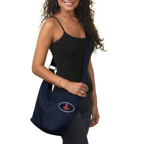MLB Boston Red Sox  Grommet Hobo, 11 x 5 x 9.5-Inch, Navy by LittlEarth. $23.00. This team-colored nylon bag features cool grommet detailing on the side, a domed team logo on the front, a durable, across-the-body adjustable strap for comfort and multiple interior pockets so you can carry this bag while running errands or cheering on your team to victory.