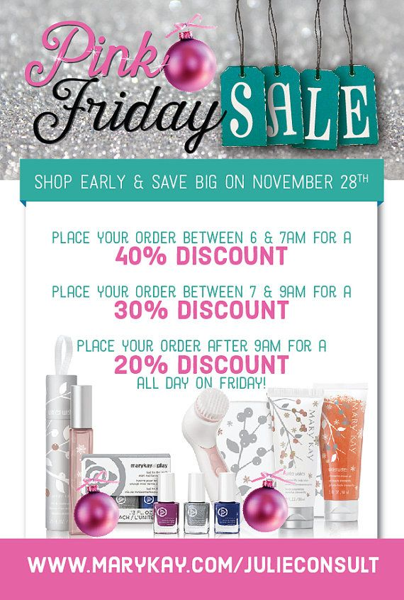 Mary Kay Holiday Sparkle Pink Friday! Check all products out at www.marykay.com/cmmidkiff