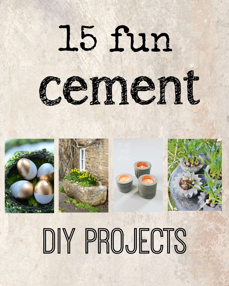 15 fun concrete cement diy projects to try for home decor
