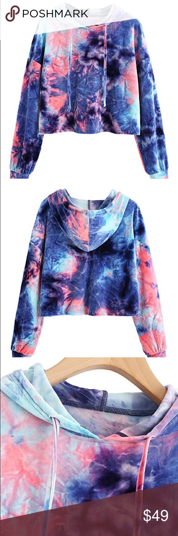♥sale♥ Velvet tie dye sweatshirt Brand new w tags boutique velvet pastels tie dye ripped sweatshirt in sizes small or large.   POSH RULES ONLY NO PP NO TRADES NO LOWBALL OFFERS   HAPPY POSHING! boutique Tops Sweatshirts & Hoodies