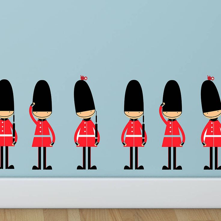 queens guards wall stickers by parkins interiors | notonthehighstreet.com