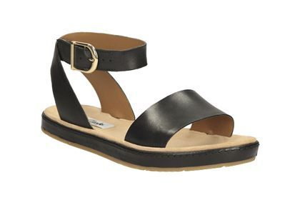 Womens Casual Sandals - Romantic Moon in Black Leather from Clarks shoes