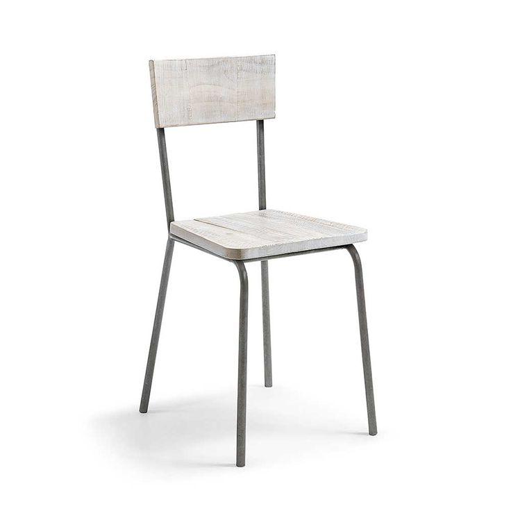 Esstischstuhl In Weiß Pinie Recyclingholz Stahl (2er Set) Jetzt Bestellen  Unter: Https://moebel.ladendirekt.de/kueche Und Esszimmer/tische/esstische/?uidu003d  ...