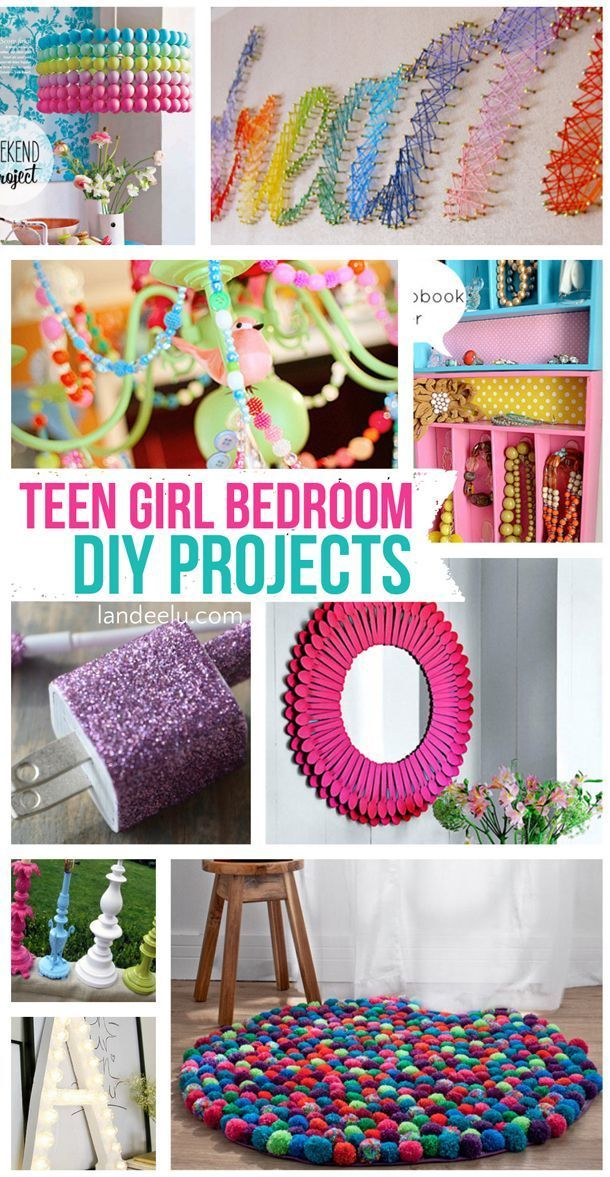 Many of these great ideas would work for any age! Teen Girl Bedroom DIY Projects | landeelu.com