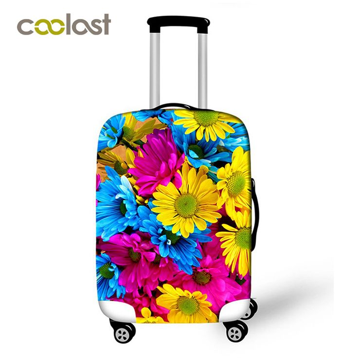 """3D Floral Rose Printing Travel Luggage Protective Covers Women Elastic valise 20"""" 24"""" 28"""" Dust-proof Suitcase Protective Cover"""