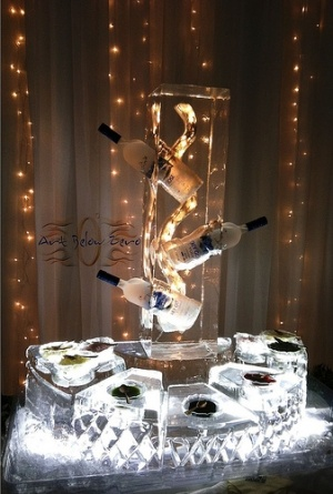 White Caviar Station Ice Sculpture