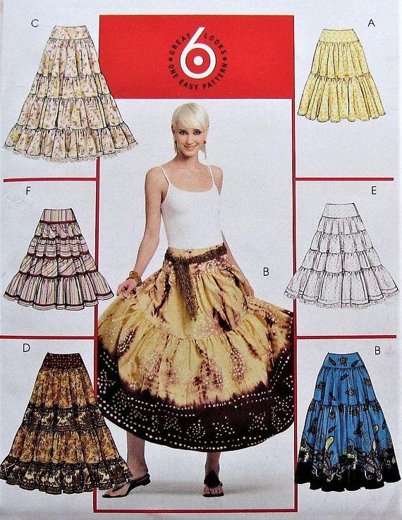 Skirt Sewing Pattern Uncut Mccalls Mp383 Sizes 14 20 Plus Size Diy