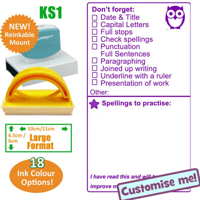 Teacher Stamps | KS1 / 2 SPaG and Presentation Large Teacher Stamp. Free delivery