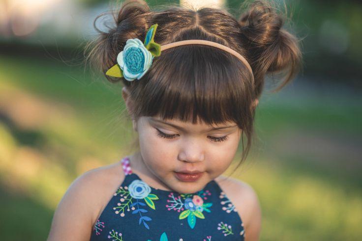 Single Flower Headband-Felt Headband, Felt Flower Headband, Baby Girl Headband-Baby Newborn Headbands -BLUE felt flower headband by MyEnchantedMuse on Etsy
