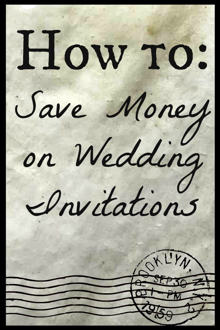 """""""We sent out 400 3-piece formal invitations with pictures and postage for under $400."""" DIY Wedding Invitations 