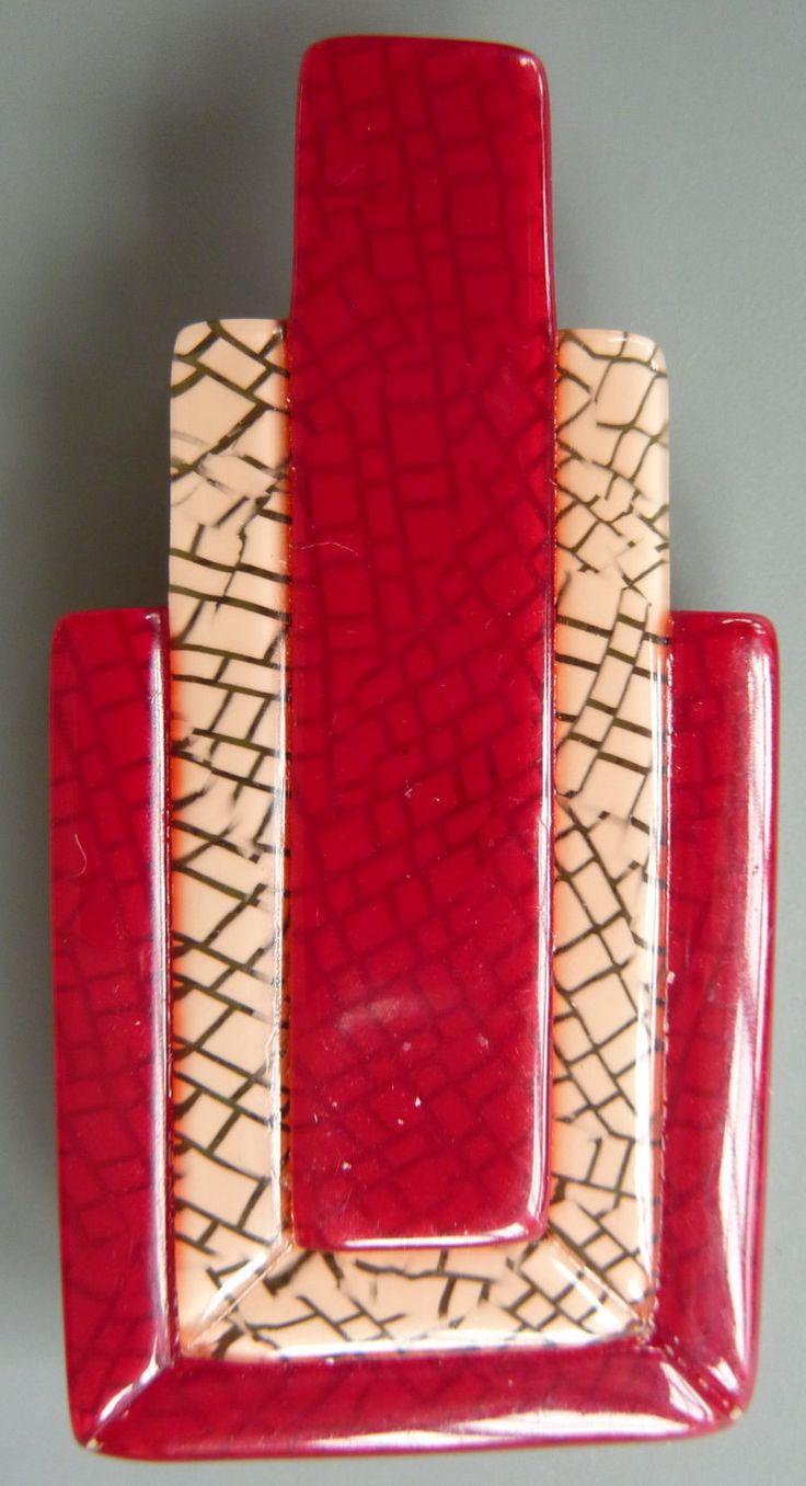 """Vintage Lea Stein """"geometrische Form"""" Brosche von arteaustria auf Etsy"""