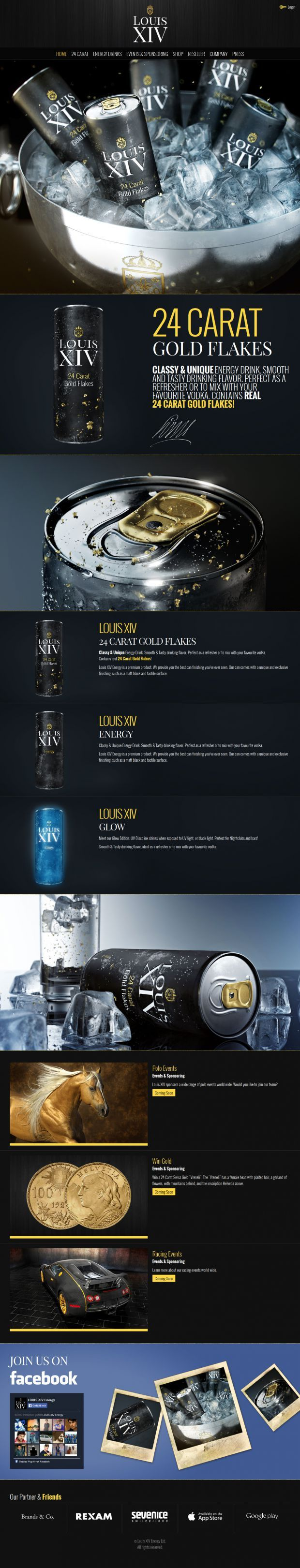 Louis XIV - Classy and Unique Energy Drink html5, Responsive Design, Website, Company, Drink